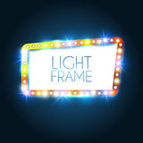 Abstract glanzend frame Retro Lichte Banner Vector Royalty-vrije Stock Fotografie