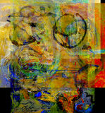 Abstract On Glass. Nice Image of an Abstract Painting On Glass in Verso Stock Images
