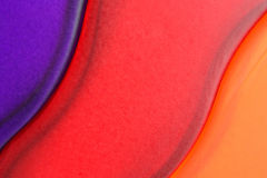 Abstract Glass. Closeup Of Three Colored Vases Stock Image
