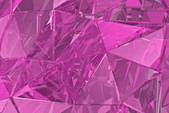 Abstract glass background. 3D render, polygonal surface.  Pink  glass. Abstract glass background. Pink glass, 3D render Royalty Free Stock Images