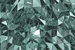 Abstract glass background. 3D render. Polygonal surface Royalty Free Stock Image