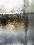 Abstract glass background - Water condensation on the cold  glas Stock Image
