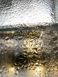 Abstract glass background - Water condensation on the cold  glas Stock Images