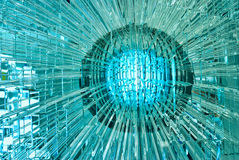 Abstract glass ball. Abstract glass ball with multiple reflections Royalty Free Stock Image