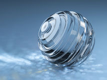 Abstract glass ball Stock Photography