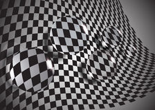 The abstract  glass balls on a chessboard,eps10. The abstract  glass balls on a chessboard,eps10 Royalty Free Stock Photos