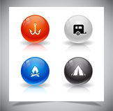Abstract glass balls. EPS10 file. Abstract glass balls with icons. EPS10 file Royalty Free Stock Photography