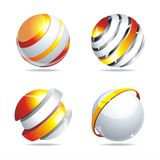 Abstract glass balls. Glossy colorful abstract glass balls. EPS10 file Vector Illustration