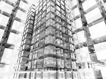 Abstract Glass Block Structure Background Stock Photo