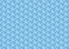 Abstract glass blue hexagons texture pattern. Vector background Stock Images