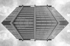 Abstract Glass Building in Black and White tone. Perspective photo Royalty Free Stock Images