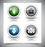Abstract glass buttons. EPS10 file. Royalty Free Stock Photo