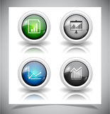 Abstract glass buttons. EPS10 file. Royalty Free Stock Photography