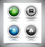 Abstract glass buttons. EPS10 file. Vector illustration Stock Images