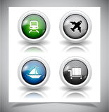 Abstract glass buttons. EPS10 file. Royalty Free Stock Image