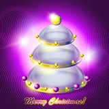 Abstract glass Christmas tree Royalty Free Stock Photo