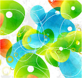 Abstract glass color shapes background Stock Image