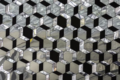 Abstract glass crystallized mirror pattern Stock Image