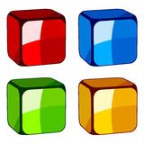 Abstract glass cubes Stock Photography