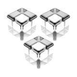 Abstract glass cubes. 3d illustration of glass cubes reflecting on white background Stock Photo