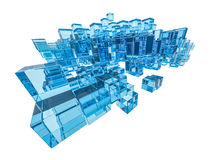 Abstract glass cubes background Stock Image