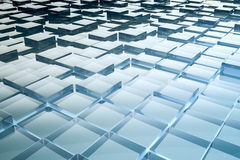 Abstract glass cubes background Stock Photos