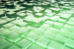Abstract glass cubes background Royalty Free Stock Photos