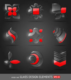 Abstract glass design elements. Set of abstract glass design elements Stock Images
