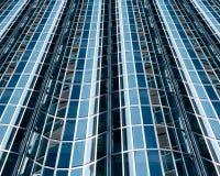 Abstract glass facade. Abstract blue glass facade of office building Royalty Free Stock Photos