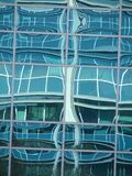 Abstract glass facade reflection. Office building in north america Royalty Free Stock Photos