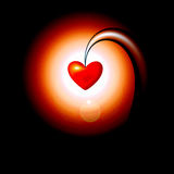 Abstract glass heart Stock Photo