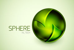 Abstract glass hi-tech sphere concept Royalty Free Stock Photo