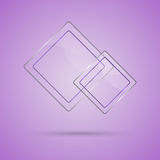 Abstract glass panel with copy space on violet background Stock Photography