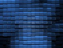 Abstract glass pattern (blue). Abstract square glass pattern (blue Royalty Free Stock Photography