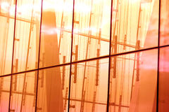 Abstract glass reflection at sunset Royalty Free Stock Images
