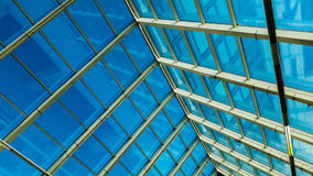 Abstract. The glass roof in the shopping center Royalty Free Stock Photo