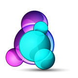 Abstract glass shape vector background Stock Photo