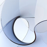 Abstract Glass Shapes. Royalty Free Stock Photo
