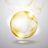 Abstract glass sphere. Background illustration of abstract glass sphere vector illustration