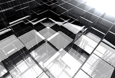 Abstract glass structure Royalty Free Stock Photos