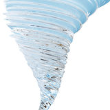 Abstract glass tornado isolated on white background, 3D rendering Stock Photography