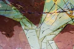 The abstract glass on the wall Stock Image