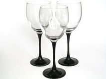 Abstract glasses II. 3 wine glasses on white background stock photos