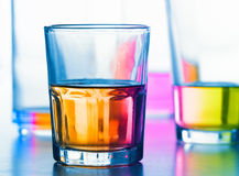 Abstract glasses with liquid Royalty Free Stock Photos