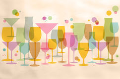 Abstract glasses on retro background Royalty Free Stock Image