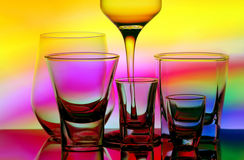 Abstract glassware Royalty Free Stock Image