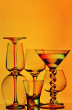 Abstract glassware Stock Images