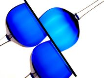 Abstract Glassware Design. Abstract design made of blue glasses on white background Royalty Free Stock Images