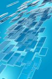Abstract Glassy Blocks. Abstract Blue Glassy Blocks Background. Vertical Glassy Blocks Background Design. 3D Rendered Royalty Free Stock Photo