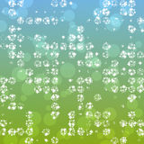 Abstract glimmering background in greenish-blue spectrum Royalty Free Stock Images